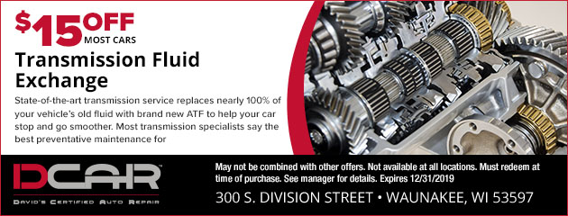 $15 Off Transmission Fluid Exchange