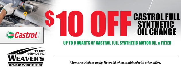 $10.00 Off Castrol Full Synthetic Oil Change