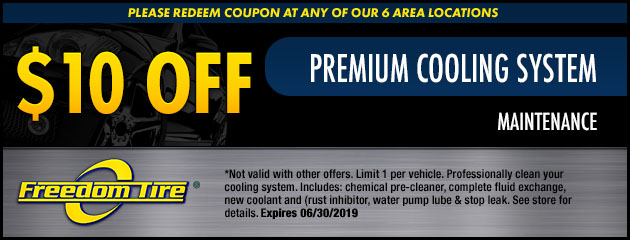 $10 Off Cooling System Maintenance Special