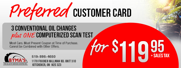Preferred Custom Card - Conventional Oil Change