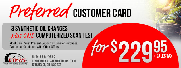 Preferred Custom Card - Synthetic Oil Change