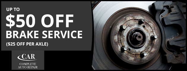 Up to $50 Off Brake Service