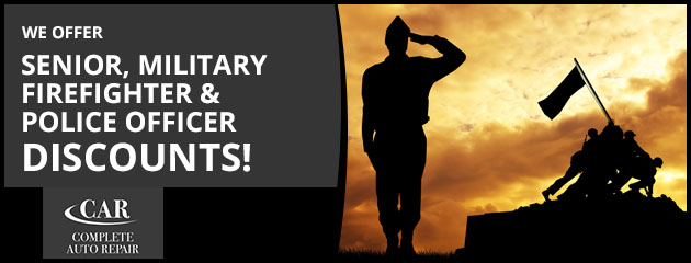 Senior, Military, Firefighter & Police Officer Discounts