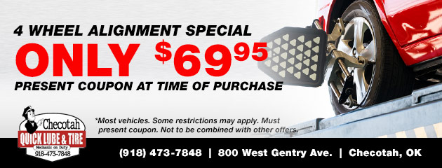 4 Wheel Alignment Special ONLY $69.95