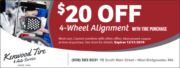 $20 Off Wheel Alignments