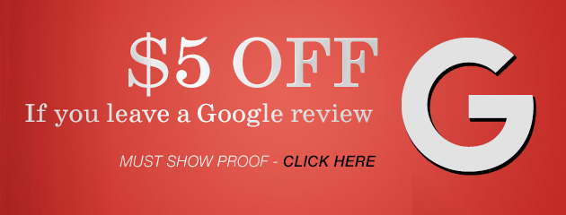 $5.00 Off for a Google review