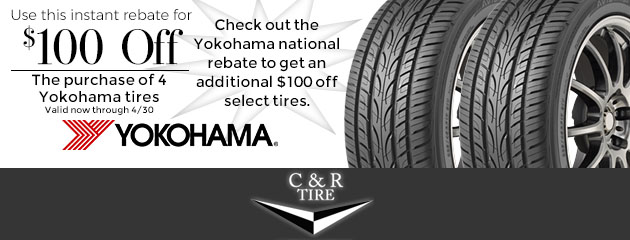 $100 Off Yokohama Tires Plus an Additional $100 Off