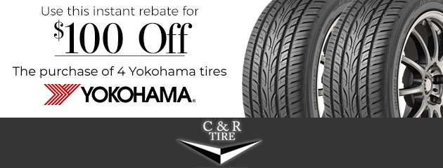 $100 Off Yokohama Tires