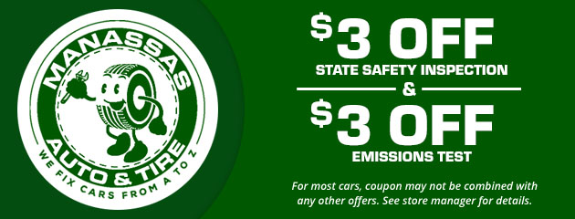 $3 off State Safety Inspection & $3 off Emissions Test