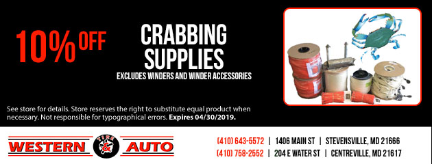 10% Off Crabbing Supplies