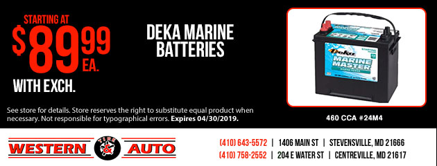 $89.99 Deka Marine Batteries