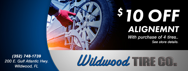 $10 Off Alignment With the Purchase of 4 Tires