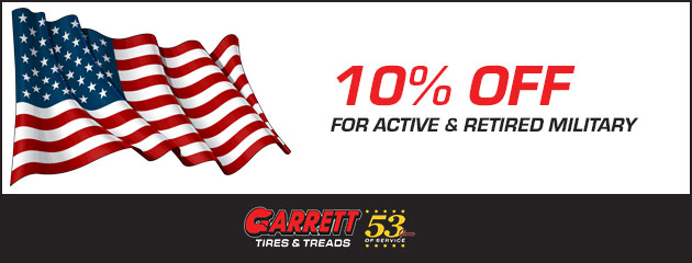 10% for Active & Retired Military