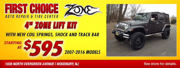 4 inch zone lift kit