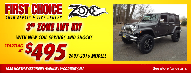 3 inch zone lift kit