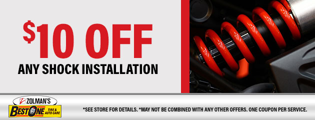 $10 OFF Any Shock Installation