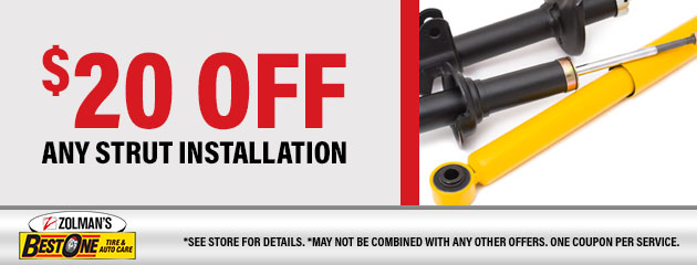 $20 OFF Any Strut Installation