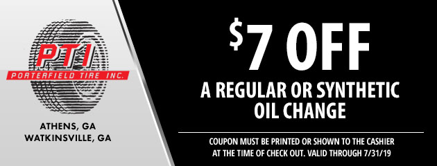 $7 off an oil change