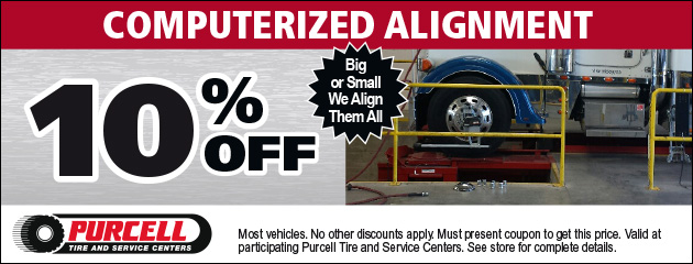 10% off Computerized alignment