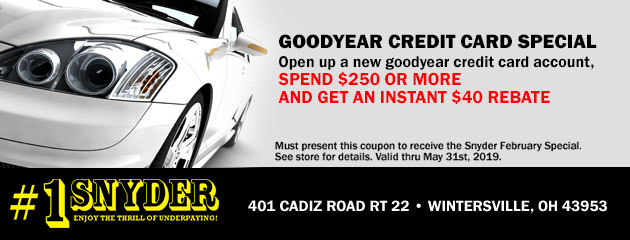 Goodyear Credit Card Special