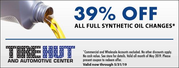 39% Off All Full Synthetic Oil Changes