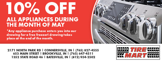 10% Off All Appliances