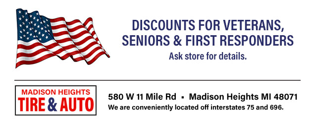 Discounts for Veterans, Seniors & First Responders