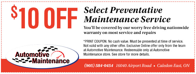 $10 Off Maintenance