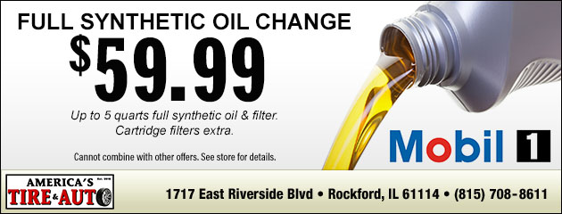 $59.99 Synthetic Oil Change