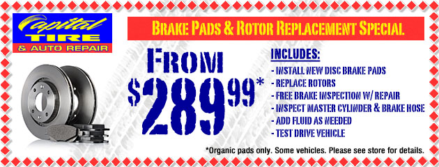 Brake Pads and Rotor Replacement Special