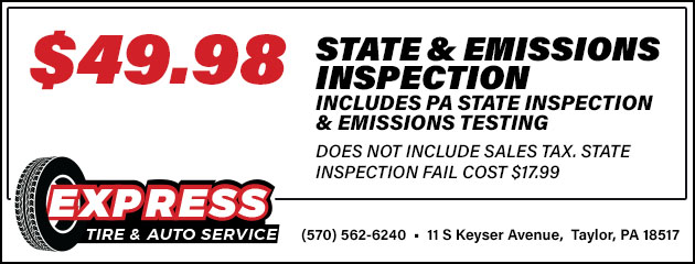 State & Emissions Inspection