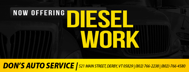 Now Offering Diesel Work