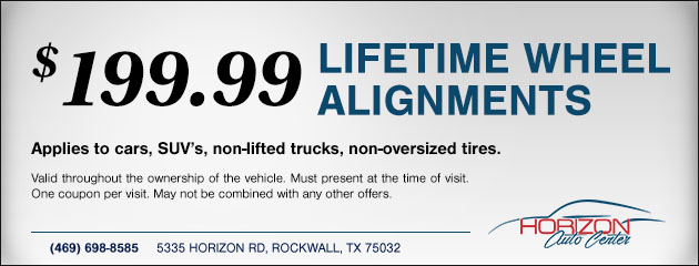Lifetime Wheel Alignment Special
