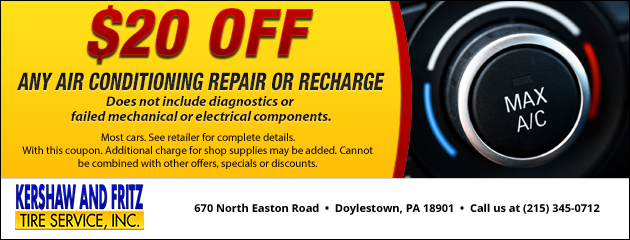 $20 Off A/C Repair or Recharge