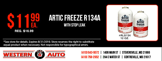 Artic Freeze R134A