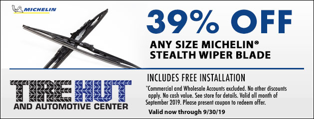 39% OFF Any Size Michelin Stealth Wiper Blade