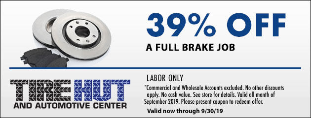 39% Off a Full Brake Job