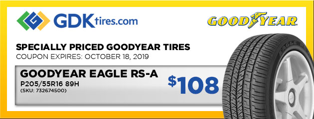 Goodyear Eagle RS-A P205/55R16 89H