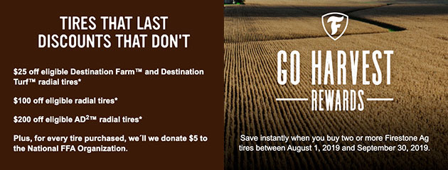 Firestone Go Harvest Promotion