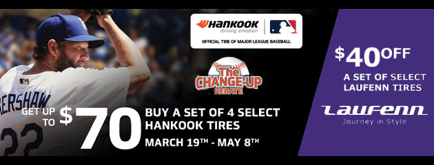 Hankook - The Change Up Rebate - Up tp $70