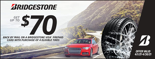 Bridgestone - $70 Mail In Rebate
