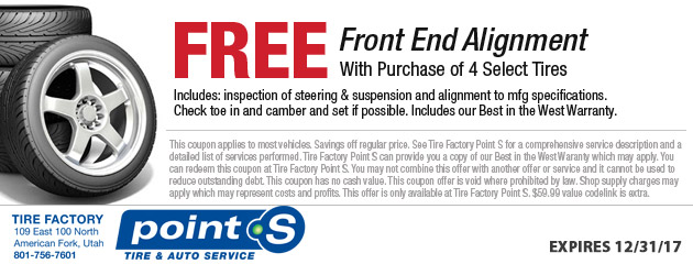Free Front End Alignment with Tire Purchase