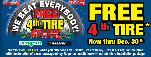 Toys For Tots - Buy 3 Get 4th Free