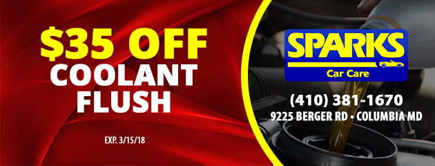 $35 Off Coolant Flush Service Special