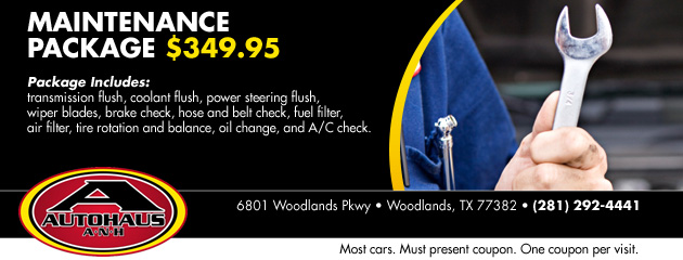 Maintenance Package $349.95