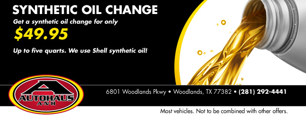 Synthetic Oil Change: $49.95