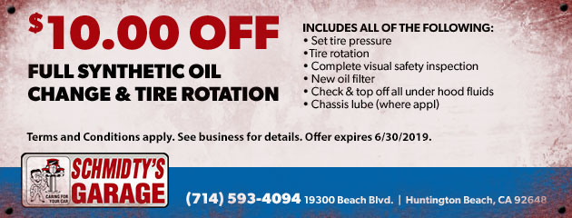Synthetic Oil Change & Tire Rotation Special