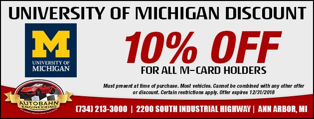 University of Michigan Discount - 10% off