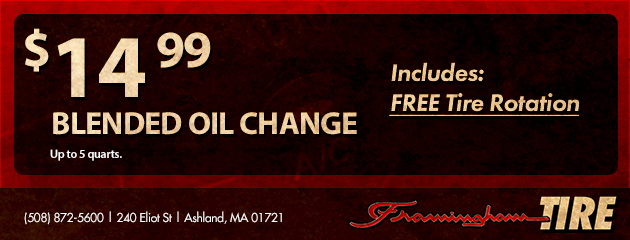 $14.99 Blended Oil Change