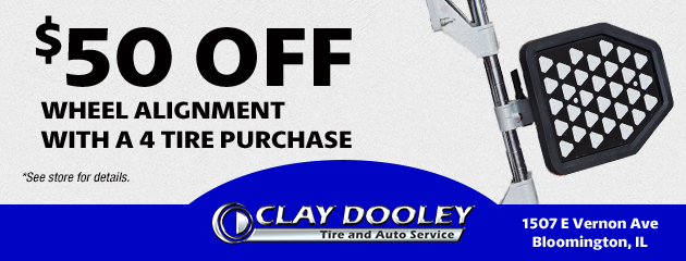 $50.00 Off Wheel Alignment with a 4 Tire Purchase